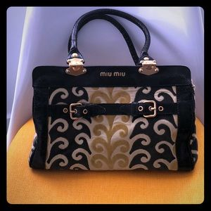 Miu Miu handbag - velvet and leather - super chic!